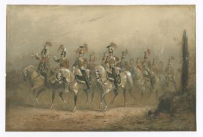 Thumbnail for 17th Lancers mounted …