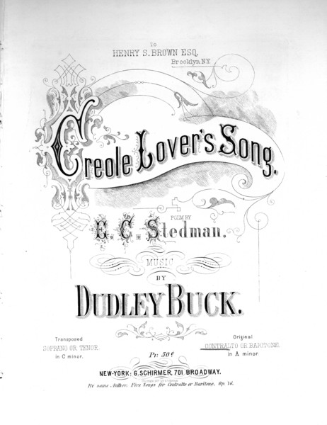 Thumbnail for Creole lover's song:: ...