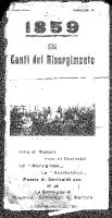 Thumbnail for 1859, canti del ...
