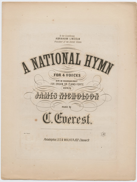 Thumbnail for A national hymn: ...