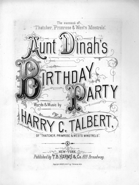 Thumbnail for Aunt Dinah's birthday ...