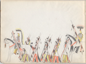 Thumbnail for Cheyenne warriors, marching, …