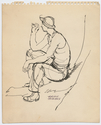 Thumbnail for Soldier resting, smoking