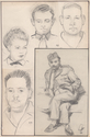 Thumbnail for 5 portrait sketches