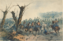 Thumbnail for French hussars charging …