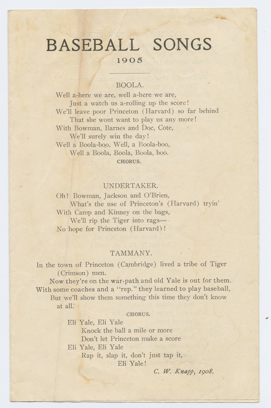 Thumbnail for Baseball songs, 1905