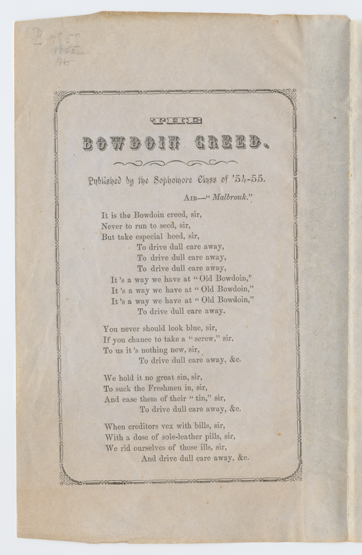Thumbnail for The Bowdoin creed: ...
