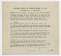 Thumbnail for Mother dear, I'm ...