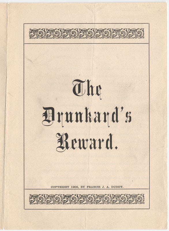 Thumbnail for The drunkard's reward