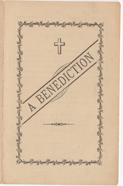 Thumbnail for A benediction