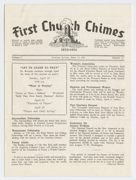 Thumbnail for First Church chimes ...
