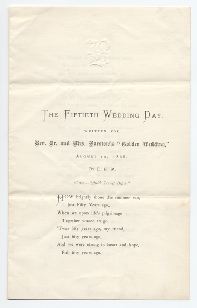Thumbnail for The fiftieth wedding ...