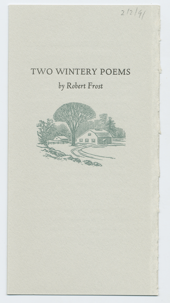 Thumbnail for Two wintery poems
