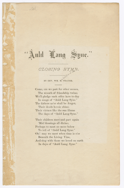 Thumbnail for Auld lang syne: ...
