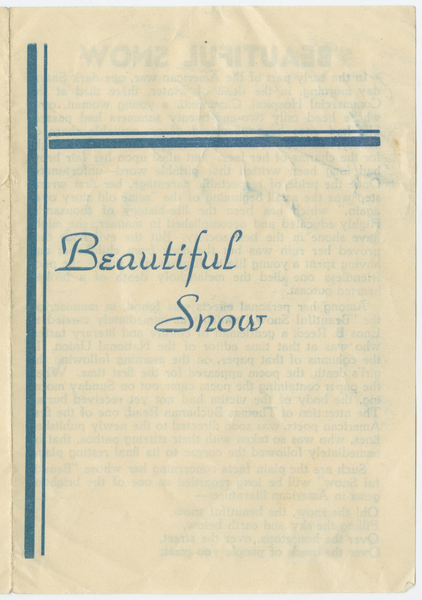 Thumbnail for Beautiful snow