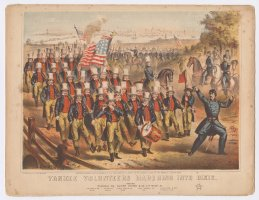 Thumbnail for Yankee volunteers marching ...