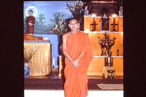 Thumbnail for Buddhist monk near ...