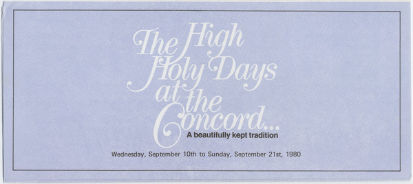 Thumbnail for The High Holy Days ...