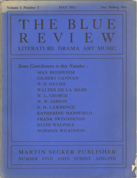 Blue Review cover image