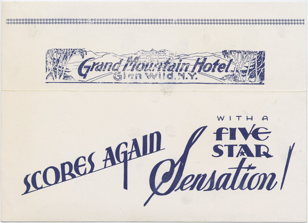 Thumbnail for Grand Mountain Hotel, ...