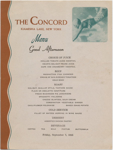 Thumbnail for The Concord, lunch menu, ...