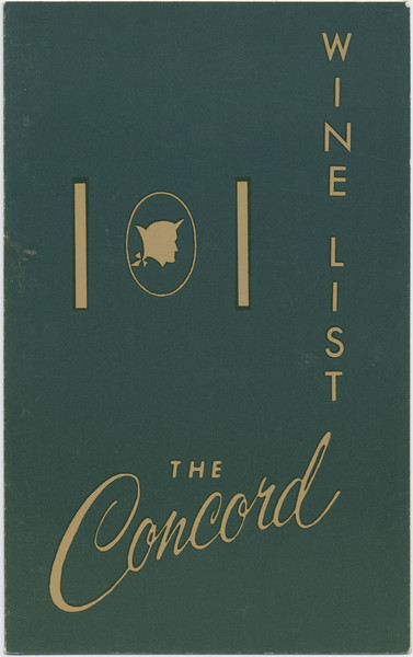 Thumbnail for The Concord, wine list