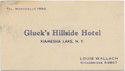 Thumbnail for Gluck's Hillside Hotel, ...