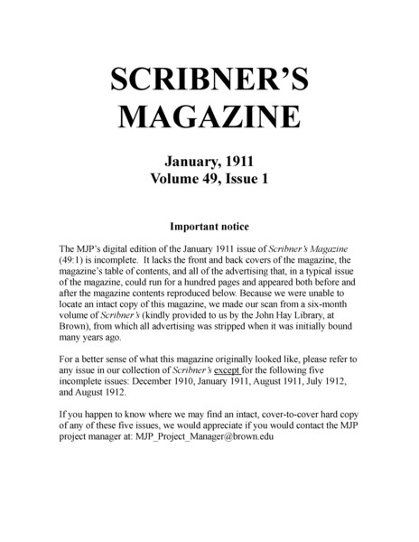 Thumbnail for Scribner&#39;s Magazine <small> ...