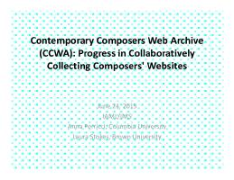 Thumbnail for Contemporary Composers Web ...