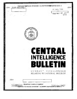 Thumbnail for Central Intelligence Bulletin: ...