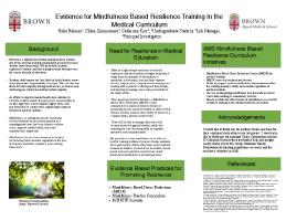 Thumbnail for Evidence for mindfulness ...