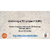 Thumbnail for Archiving a TEI …